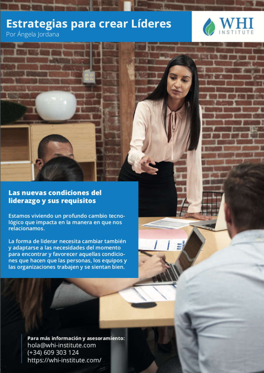 portada ebook Estrategias para crear líderes por Angela Jordana CEO de WHI Institute
